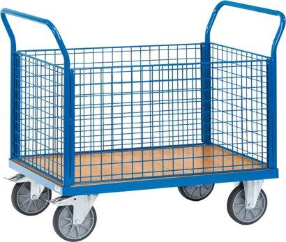 Transportwagen mit Gitterwänden