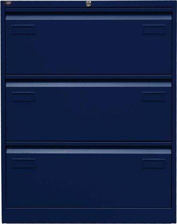 Hängeregistraturschrank für DIN A4, Farbe oxfordblau