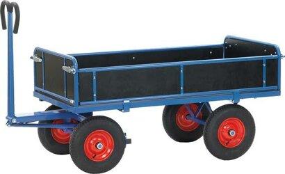 Hand-Pritschenwagen mit Bordwänden