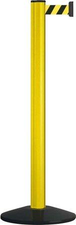 Sperrgurtpfosten, Pfosten gelb, Gurt schwarz-gelb
