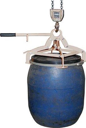 Fassgreifer für Kunststoff-Deckelfässer, verzinkt