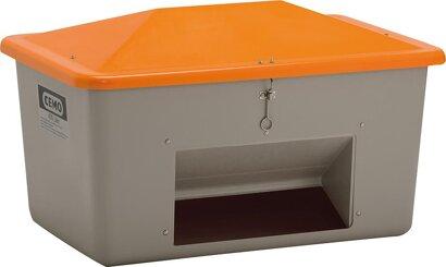 Streugut-Box, Behälter grau/Deckel orange