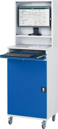 Computer-Schrank, Breite 650 mm, mit Monitorgehäuse
