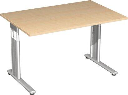 Schreibtisch Flex, C-Fuß, HxBxT: 680–820x1200x800 mm