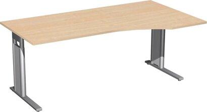 """Schreibtisch C-Fuß """"Pro"""", 680–820x1800x800/1000 mm rechts"""