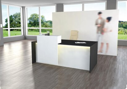 Theke Palermo mit LED-Beleuchtung