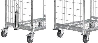 Deichsel und Kupplung für Kommissionierwagen