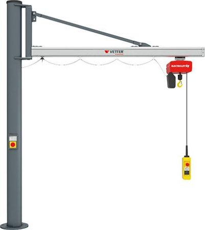 Kran Unilift US 270°, Säulenausführung mit Elektrokettenzug