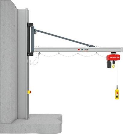 Kran Unilift UW 180° Wandausführung ohne E-Kettenzug