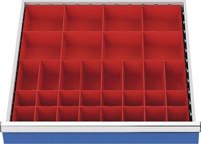 Einteilungsmaterial für Schubladenschränke