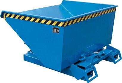 Kippbehälter, Typ 4A mit Abrollsystem RAL 5012