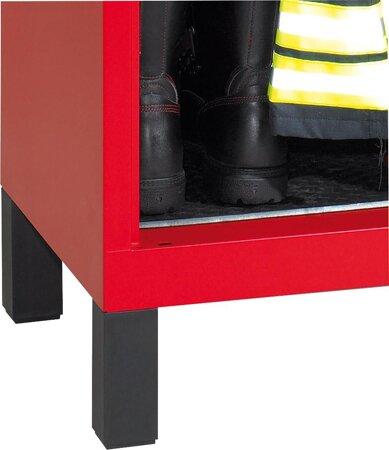 Füsse für Feuerwehrschrank