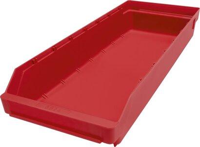 Kleinteilekasten aus Polypropylen, rot