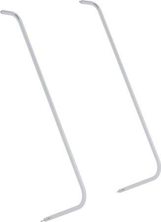 Handlauf für Aluminium-Podesttreppe, beidseitig begehbar