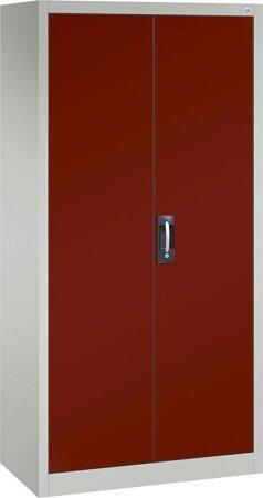 Büro-Flügeltürschrank mit 4 verstellbaren lackierten Böden, Türen RAL 3003