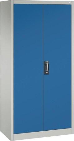 Büro-Flügeltürschrank mit 4 verstellbaren lackierten Böden, Türen RAL 5012