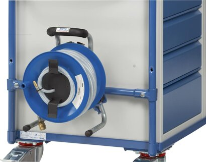 Druckluftschlauchtrommel für Werkstattwagen