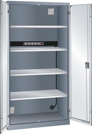 Akku-Ladeschränke mit Flügeltüren, mit Energieleiste 1x 5-fach 230 V
