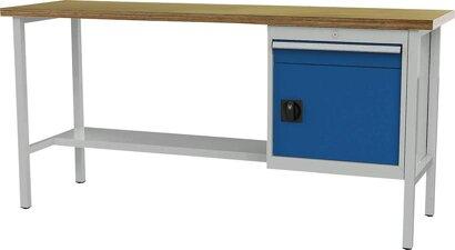 Kastenwerkbank, 2000 mm, 1 Schublade, 1 Tür