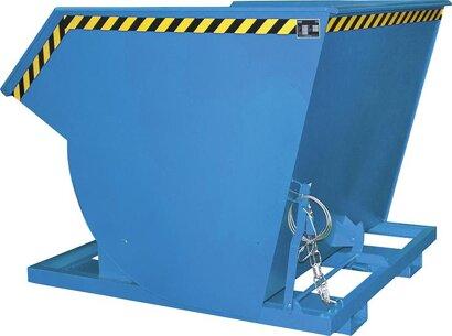 Kippbehälter, mit Abrollsystem, RAL 5012