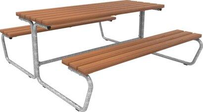 Bank-Tisch-Kombination ohne Rückenlehne