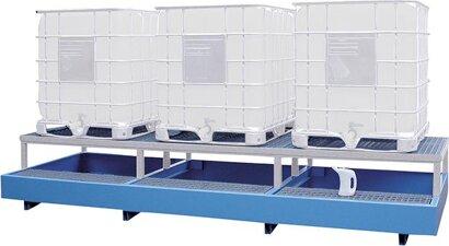 Auffangwanne mit Abfüllbock für KTC 1000 Liter