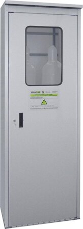 Druckgasflaschenschrank TRG-Zellen, Türen Stahlblech  mit Plexiglasausschnitt
