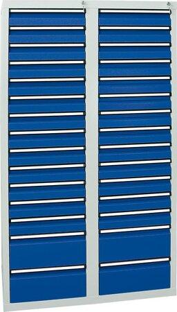 Schubladenschrank, 1800x1000x500 mm, Schubladen 26x 100/4x 200 mm