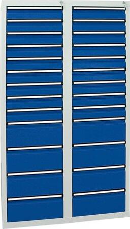 Schubladenschrank, 1800x1000x500 mm, Schubladen 18x 100/8x 200 mm