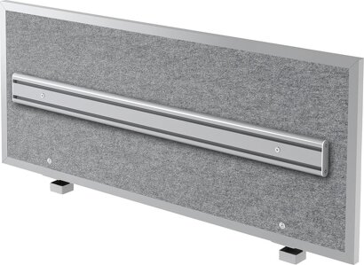 Akustik-Trennwand, mit Rahmen und ORGA-Schiene