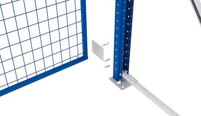 Befestigungsset für Rückwandgitter für Großfachregal MULTIPAL