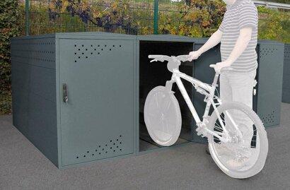 Fahrradgarage Bike Box 1G, mit Giebeldach