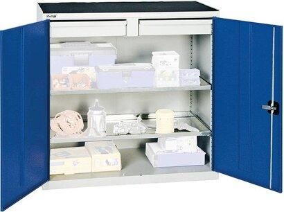 Werkzeug- und Materialschränke Serie 2000, 2 Schubladen, 2 Fachböden