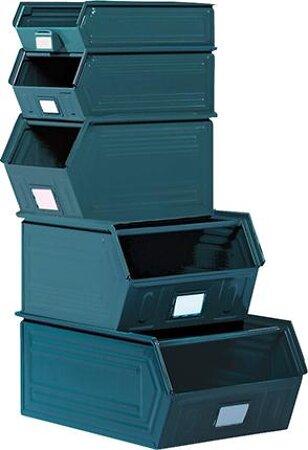 Sichtlagerkasten, Typ SLK, graublau
