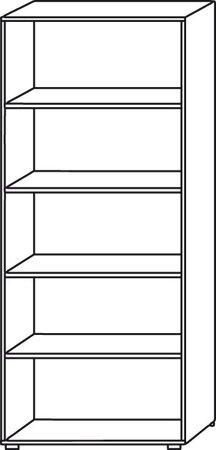 Regal und Tür der Schrankwandserie 4, Nussbaum