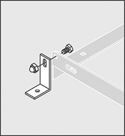 Bodenmontage-Winkel für Fahrradständer