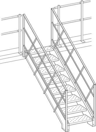 Treppe 38 Grad für Lagerbühne