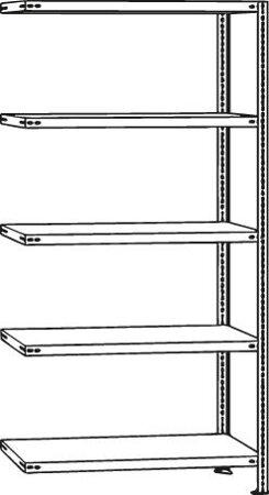 FIX Schraubregal Fachlänge 1000 mm, Fachlast 80 kg, verzinkt