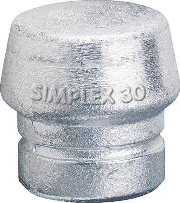 Schlagkopf für Schonhammer SIMPLEX Weichmetall hart