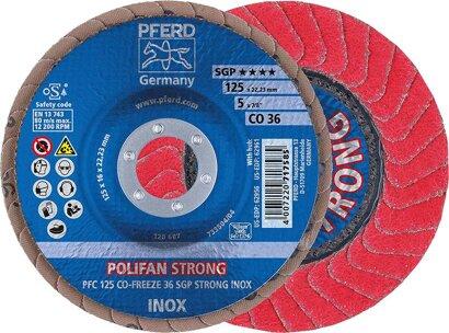POLIFAN-Fächerschleifscheibe CO FREEZE SGP STRONG INOX