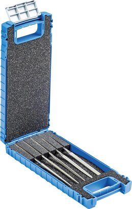 Diamant-Nadelfeilen-Satz 5-teilig in Kunststoffbox