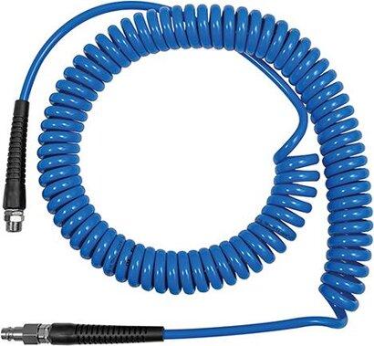 PU-Spiralschlauch mit drehbarer Verschraubung