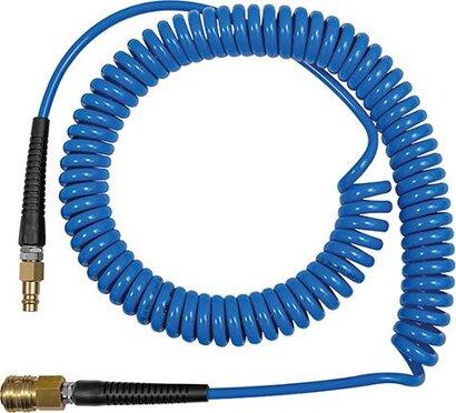 PU-Spiralschlauch mit Kupplung und Nippel