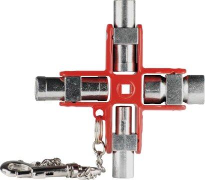 Schaltschrank-Schlüssel mit drehbaren Profilen 95 x 95 mm
