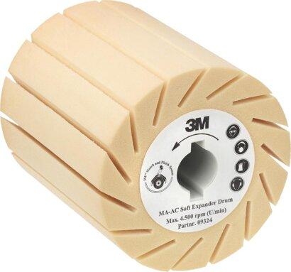Aufnahmewalze für Schleifbänder weich