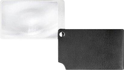 Scheckkartenlupe schwarz visoPOCKET