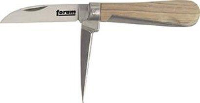 Kabelmesser 2-teilig mit Holzgriff