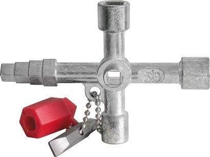 Schaltschrank-Schlüssel mit Wendebit 89 x 62 mm