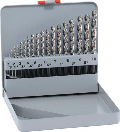Spiralbohrer-Satz DIN 338 Typ FORTE 1-10 + Kegelsenker