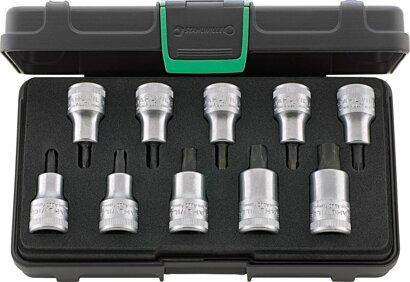 Schraubendreher-Einsatz-Garnitur für Innen-TORX® 10-tlg
